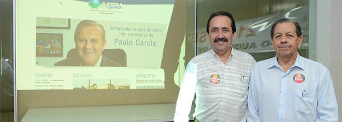 Solenidade na sede da Affim Goiânia com a presença de Paulo Garcia