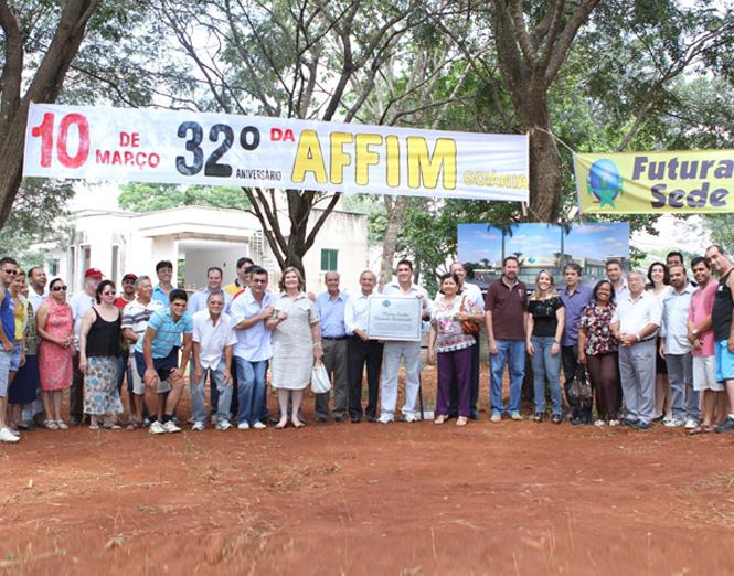 Lançamento da Pedra Fundamental para construção da nova sede da Affim Goiânia